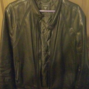 Guess faux leather moto